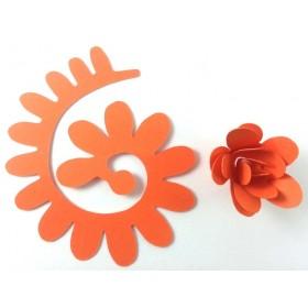Quilling Spiral Çiçek 12'li Paket ANEMON-TURUNCU