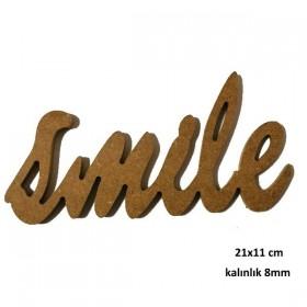smile Yazısı  21x11cm Ahşap Obje