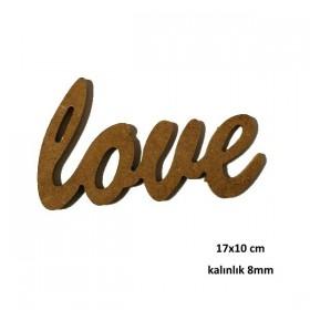 love Yazısı 17x10cm Ahşap Obje