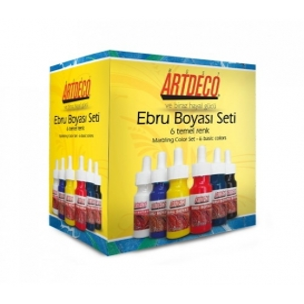 Artdeco Ebru Boyası Seti 6x30ml Temel Renk