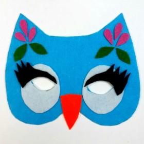 Artebella Keçe Maske Seti DİŞİ BAYKUŞ