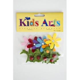 Kids Arts Keçe Sticker ÇİÇEKLER