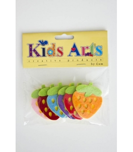 Kids Arts Keçe Sticker ÇİLEK RENKLİ