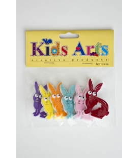Kids Arts Keçe Sticker TAVŞAN
