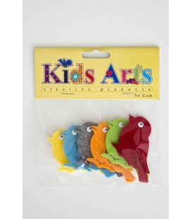 Kids Arts Keçe Sticker KUŞ
