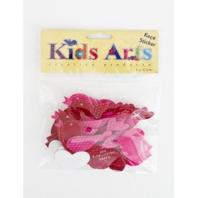 Kids Arts Keçe Sticker KUŞ/KALP