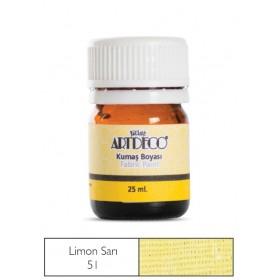 Artdeco Kumaş Boyası 51 Kavun Sarısı