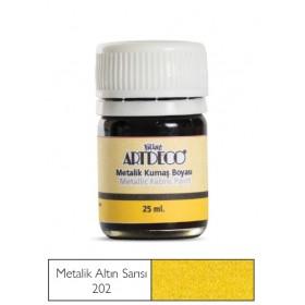 Artdeco Metalik Kumaş Boyası 202 Altın Srısı