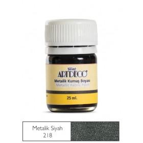 Artdeco Metalik Kumaş Boyası 218 Siyah