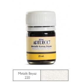 Artdeco Metalik Kumaş Boyası 220 BEYAZ