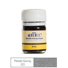 Artdeco Metalik Kumaş Boyası 222 Gümüş
