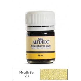 Artdeco Metalik Kumaş Boyası 223 Sarı