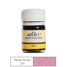 Artdeco Metalik Kumaş Boyası 224 Pembe