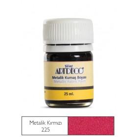 Artdeco Metalik Kumaş Boyası 225 Kırmızı