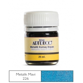 Artdeco Metalik Kumaş Boyası 226 Mavi