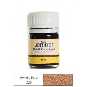 Artdeco Metalik Kumaş Boyası 228 Bakır 25ml