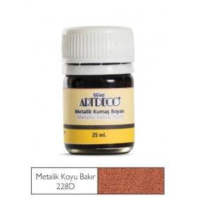 Artdeco Metalik Kumaş Boyası 228D Koyu Bakır