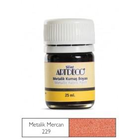 Artdeco Metalik Kumaş Boyası 229 Mercan 25ml