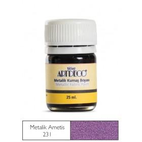Artdeco Metalik Kumaş Boyası 231 Ametist