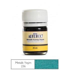 Artdeco Metalik Kumaş Boyası 236 Yeşim