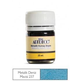 Artdeco Metalik Kumaş Boyası 237 Deniz Mavisi