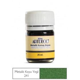Artdeco Metalik Kumaş Boyası 241 Koyu Yeşil