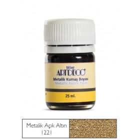 Artdeco Metalik Kumaş Boyası 1221 Açık Altın Yaldız