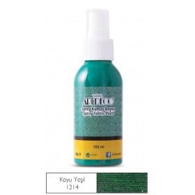 1214 Koyu Yeşil Artdeco Sprey Kumaş Boyası 100 ml