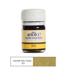 Artdeco Metalik Kumaş Boyası 221 Altın Yaldız