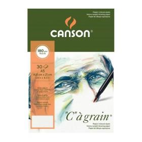 "Canson ""C""a Grain İnce Dokulu Eskiz Blok 180 gr. A5 30 Sayfa"
