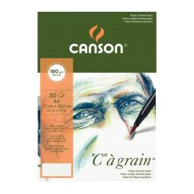 "Canson ""C""a Grain İnce Dokulu Eskiz Defteri Blok 180 gr. A4 30 Sayfa"