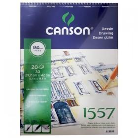 Canson 1557 Dessin Resim Ve Çizim Blok 180 gr. Spiralli A3 20 Sayfa