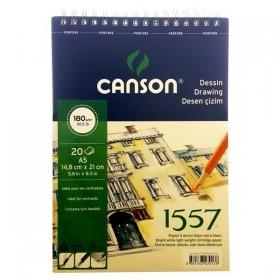 Canson 1557 Dessin Resim Ve Çizim Blok 180 gr. Spiralli A5 20 Sayfa