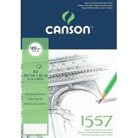 Canson 1557 Eskiz Defteri 120 gr. Üstten Spiralli A3 40 Sayfa