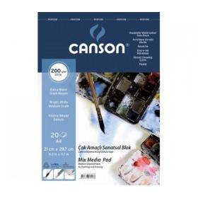 Canson Finface Çok Amaçlı Defter 200 gr. Spiralli A4 20 Sayfa