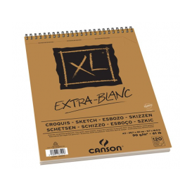 Canson XL Ekstra Beyaz Eskiz Defteri 90 gr. A3 100 Sayfa