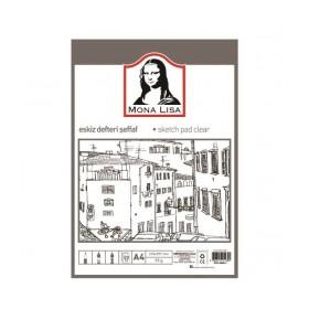 Südor Mona Lisa Eskiz Defteri Şeffaf 95 gr. 20 Yaprak