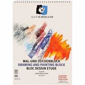 Alex Schoeller 165 gr. Dokulu Resim Defteri 25x35 cm. 15 Sayfa