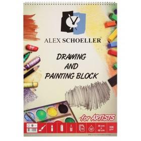 Alex Schoeller Drawing & Painting Block Dokulu Resim Defteri 220 gr. 35x50 cm. 15 Sayfa