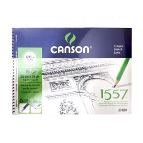 Canson 1557 Resim Ve Çizim Defteri 120 gr. 25x35 cm. 15 Sayfa