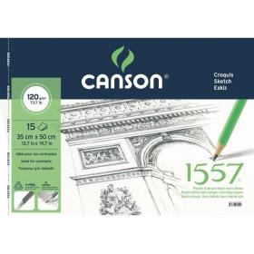 Canson 1557 Resim Ve Çizim Defteri 120 gr. 35x50 cm. 15 Sayfa
