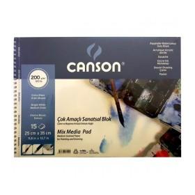 Canson Finface Çok Amaçlı Sanatsal Blok 200 gr. 25x35 cm. 15 Sayfa