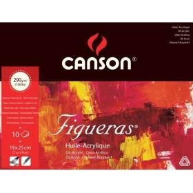 Canson Figueras Tuval Görünümlü Yağlıboya Defteri 290 gr. 19x25 cm. 10 Sayfa