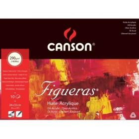 Canson Figueras Tuval Görünümlü Yağlıboya Defteri 290 gr. 24x33 cm. 10 Sayfa
