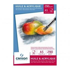 Canson Yağlıboya ve Akrilik Blok 290 gr. A5 10 Sayfa