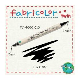 Zig Fabricolor Twin Çift Uçlu Kumaş Boyama Kalemi BLACK