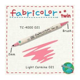 Zig Fabricolor Twin Çift Uçlu Kumaş Boyama Kalemi LIGHT CARMINE
