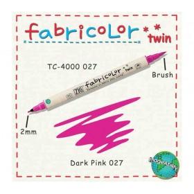 Zig Fabricolor Twin Çift Uçlu Kumaş Boyama Kalemi DARK PINK