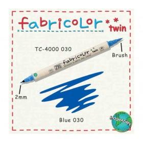 Zig Fabricolor Twin Çift Uçlu Kumaş Boyama Kalemi BLUE