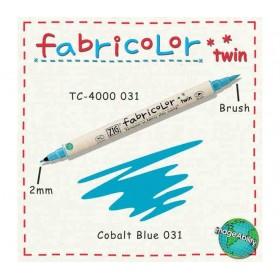 Zig Fabricolor Twin Çift Uçlu Kumaş Boyama Kalemi COBALT BLUE